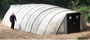 Inflatable Concrete Shelter