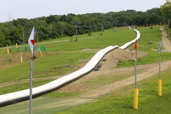 Action Park Has World 39 S Longest Inflatable Water Slide Everything Inflatables