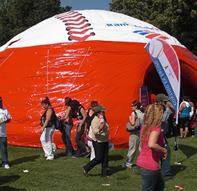 inflatable tent advertising